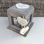 Shabby Chic PERSONALISED Rustic Wood Auntie & Uncle Present ANY NAME Photo Cube